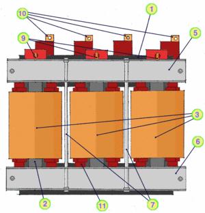 Drehstromtransformator Dyn5: Oberspannungsseite